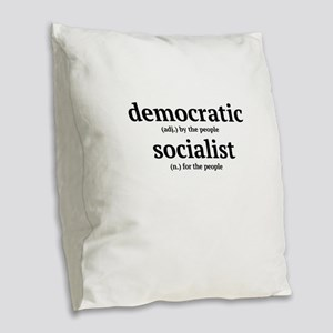 Democratic Socialist Burlap Throw Pillow