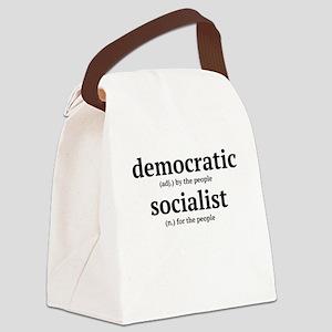 democratic socialist Canvas Lunch Bag