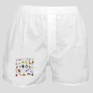 Alphabet Animals Boxer Shorts
