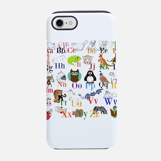 Alphabet Animals iPhone 8/7 Tough Case