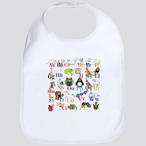 Alphabet Animals Baby Bib