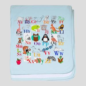 Alphabet Animals baby blanket