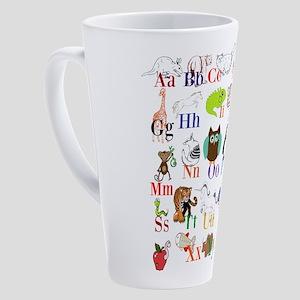 Alphabet Animals 17 oz Latte Mug
