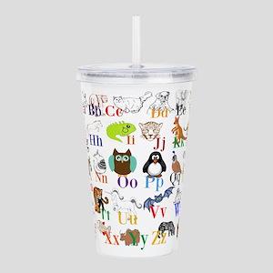Alphabet Animals Acrylic Double-wall Tumbler