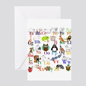 Alphabet Animals Greeting Cards