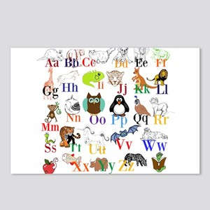 Alphabet Animals Postcards (Package of 8)
