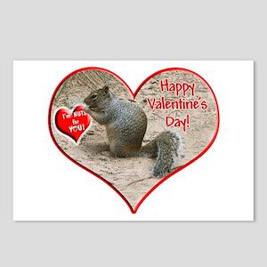 Helaine's Squirrel Valentine Postcards (Package of