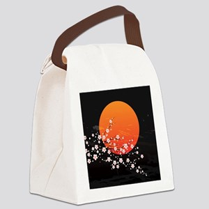 Asian Night Canvas Lunch Bag