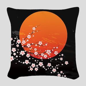 Asian Night Woven Throw Pillow