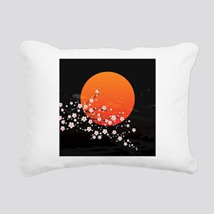 Asian Night Rectangular Canvas Pillow