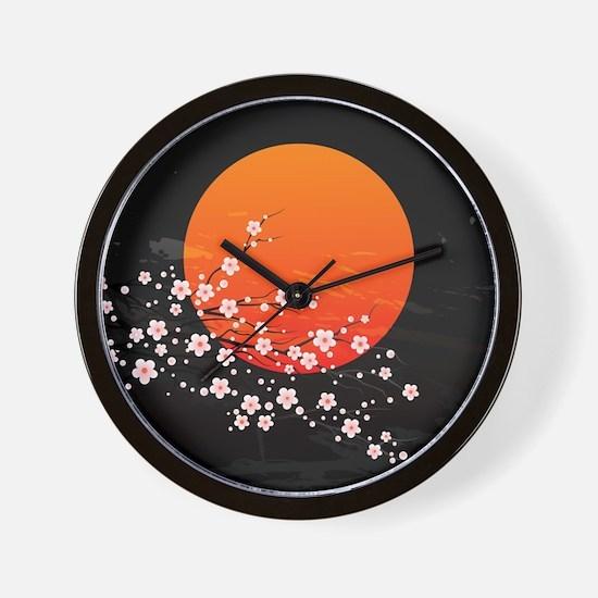 Asian Night Wall Clock