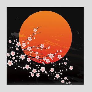 Asian Night Tile Coaster