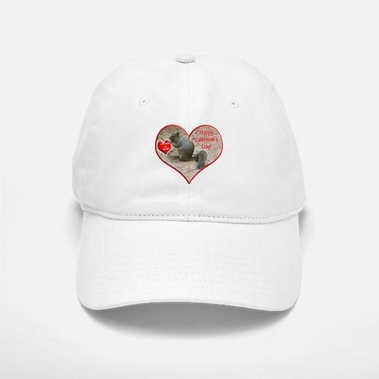 Helaine's Squirrel Valentine Baseball Baseball Cap