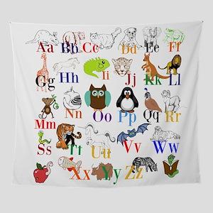Alphabet Animals Wall Tapestry
