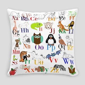 Alphabet Animals Everyday Pillow