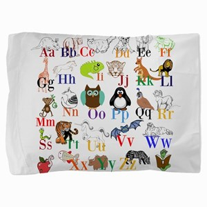 Alphabet Animals Pillow Sham