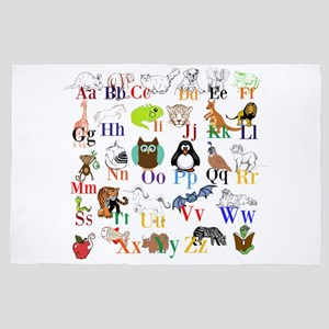 Alphabet Animals 4' x 6' Rug