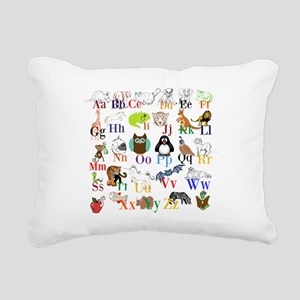 Alphabet Animals Rectangular Canvas Pillow