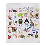 Alphabet Fleece Blankets