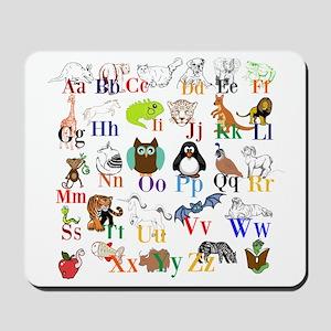 Alphabet Animals Mousepad