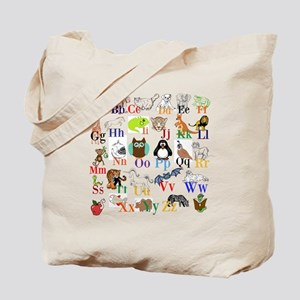 Alphabet Animals Tote Bag