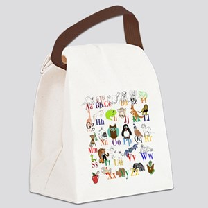 Alphabet Animals Canvas Lunch Bag
