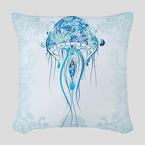 Jellyfish Woven Throw Pillow