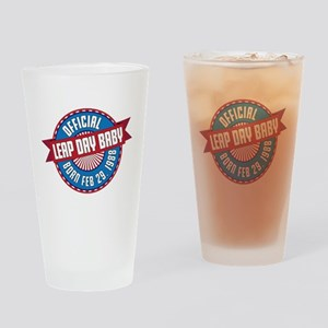 Leap Day Baby Drinking Glass