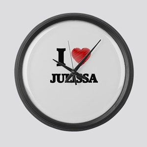 I Love Julissa Large Wall Clock