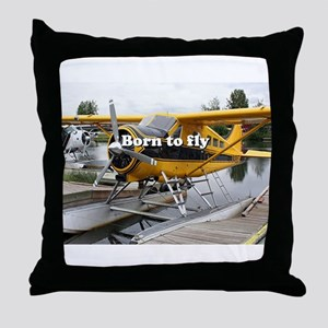Born to fly: Beaver float plane Throw Pillow