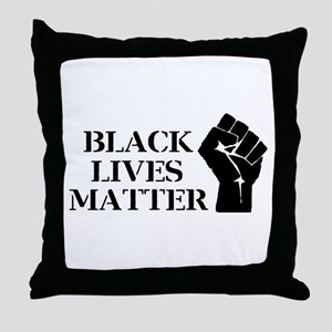 Black Lives Matter - Raised Clenched Throw Pillow