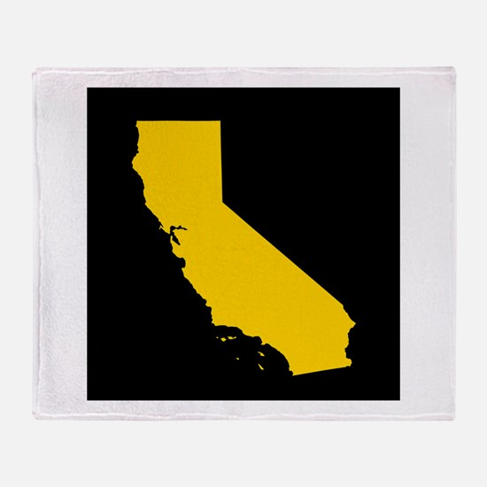 california gold black Throw Blanket