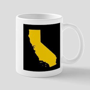 california gold black Mug