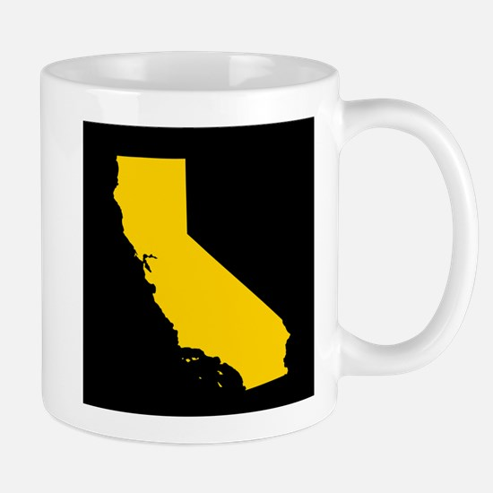 california gold black Mug