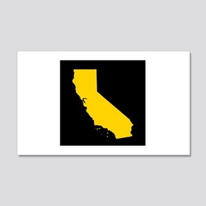 california gold black 20x12 Wall Decal