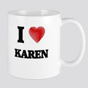 I Love Karen Mugs