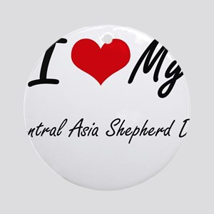 I love my Central Asia Shepherd Dog Round Ornament