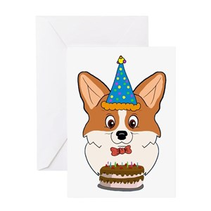 Welsh corgi happy birthday greeting cards cafepress m4hsunfo