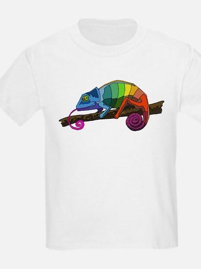 Rainbow Chameleon Kids T-Shirt