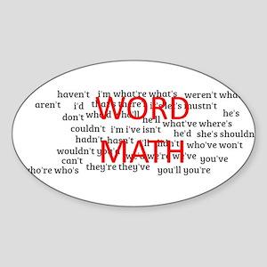 word math Sticker