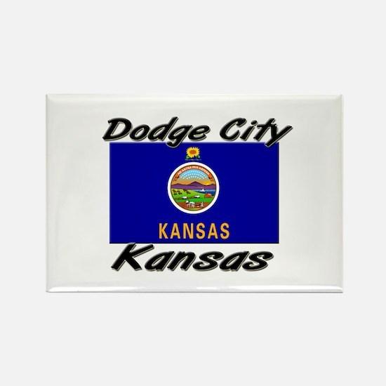 Dodge City Kansas Rectangle Magnet