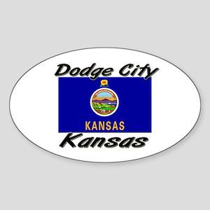 Dodge City Kansas Oval Sticker