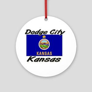 Dodge City Kansas Ornament (Round)
