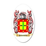 Palombella 35x21 Oval Wall Decal