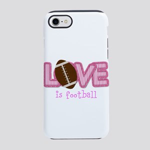 Love is Football: Pink iPhone 8/7 Tough Case