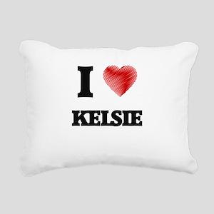 I Love Kelsie Rectangular Canvas Pillow