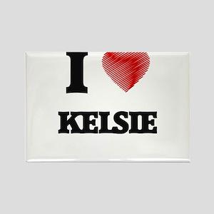 I Love Kelsie Magnets