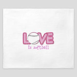 Love is Softball : Pink King Duvet