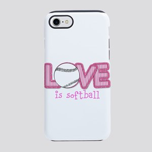 Love is Softball : Pink iPhone 8/7 Tough Case