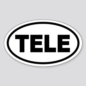 Basic Telemark Oval Sticker